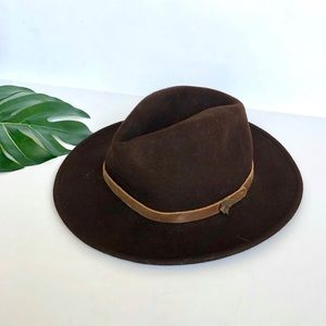 Goorin Bros Grenadier 100% Wool Fedora Hat Brown